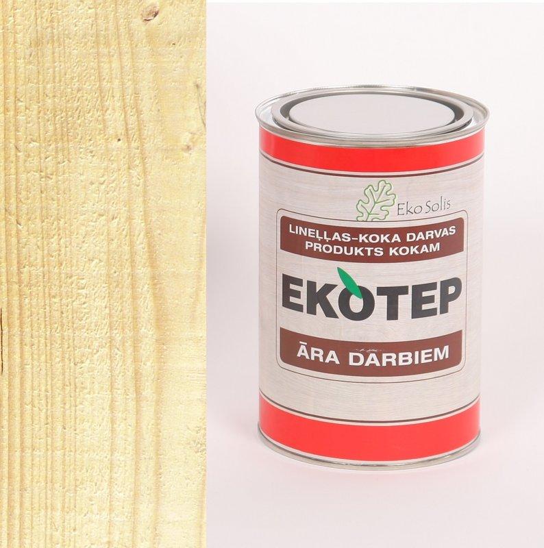 EKOTEP 200 bezkrāsains lineļļas produkts ar priedes darvu āra darbiem 0,5 ltr