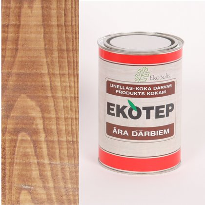 EKOTEP 120 dabīgi brūns lineļļas produkts ar priedes darvu āra darbiem 0,5 ltr