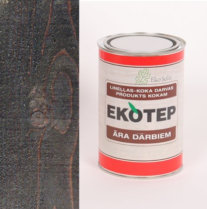 EKOTEP 150 tumši brūns lineļļas produkts ar priedes darvu āra darbiem 0,5 ltr