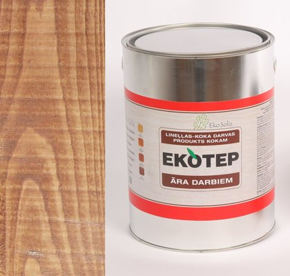 EKOTEP 120 dabīgi brūns lineļļas produkts ar priedes darvu āra darbiem 5 ltr