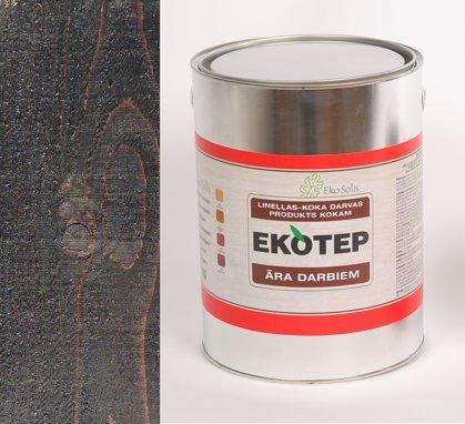 EKOTEP 150 tumši brūns lineļļas produkts ar priedes darvu āra darbiem 5 ltr