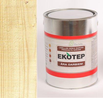 EKOTEP 200 bezkrāsains lineļļas produkts ar priedes darvu āra darbiem 5 ltr